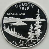 2005 S 25C OREGON SILVER STATE QUARTER PROOF UNC 90  SILVER 13655