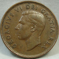 1949 1C A TO DENTICLE CANADA CENT  KEY DATE CANADIAN PENNY COPPER 386
