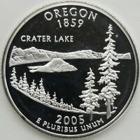 2005 S 25C OREGON SILVER STATE QUARTER PROOF UNC 90  SILVER 13653