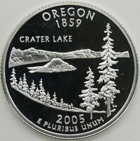2005 S 25C OREGON SILVER STATE QUARTER PROOF UNC 90  SILVER 13656