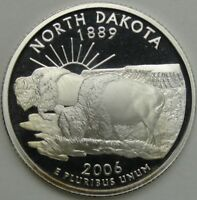 2006 S 25C NORTH DAKOTA SILVER STATE QUARTER PROOF UNC 90  SILVER 13678