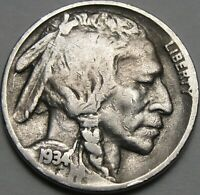 1934 5C BUFFALO NICKEL INDIAN HEAD NICKEL FIVE CENTS 13962