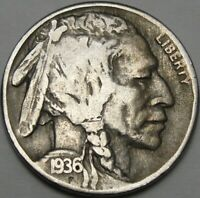 1936 S 5C BUFFALO NICKEL INDIAN HEAD NICKEL FIVE CENTS 13999