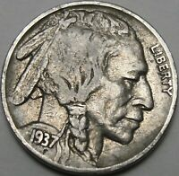1937 5C BUFFALO NICKEL INDIAN HEAD NICKEL FIVE CENTS 14005