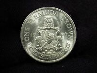 1964 BERMUDA ONE CROWN BU SILVER COIN