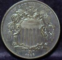 1866 RAYS SHIELD NICKEL IDHH222