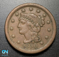 1850 BRAIDED HAIR LARGE CENT --  MAKE US AN OFFER  P6859