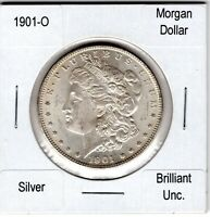 1901-O MORGAN DOLLAR, UNCIRCULATED, NEVER CLEANED OR ALTERED, $50.00 OR BO