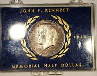 1964 KENNEDY SILVER HALF DOLLAR IN CASE NICELY TONED TONING COLOR BU MS  RM
