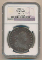 1799 BUST DOLLAR, NGC VF DETAILS