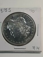 1878 S MORGAN SILVER DOLLAR BU