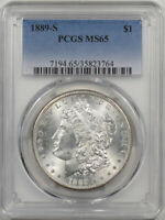 1889-S MORGAN DOLLAR PCGS MINT STATE 65