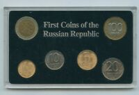 1992 FIRST COINS OF THE RUSSIAN REPUBLIC 6-COIN SET