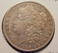 1900 O MORGAN SILVER DOLLAR,  00O10
