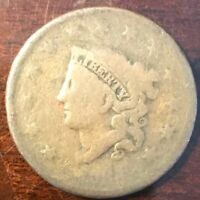 1824 CORONET HEAD LARGE CENT