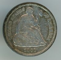 1863-S LIBERTY SEATED HALF DIME  DATE FINE