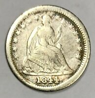 1844 LIBERTY SEATED HALF DIME  FINE -