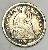 1849-O LIBERTY SEATED HALF DIME FINE -  FINE  ORIGINAL TONE