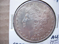 1882 AU MORGAN SILVER DOLLAR BREAKUP OF A HIGH GRADE SET - L21