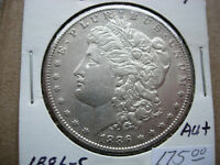 1886-S AU MORGAN SILVER DOLLAR BREAKUP OF A HIGH GRADE SET-L21