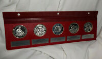 5 VINTAGE STERLING .925 SILVER PROOF MEDALS NCS NATIONAL COMMEMORATIVE SOCIETY