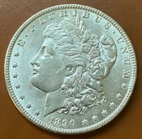 1890-P MORGAN SILVER DOLLAR AU ALMOST UNCIRCULATED COIN - TCC