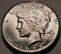 1928 S PEACE SILVER DOLLAR UNCIRCULATED BETTER DATE COIN SHA