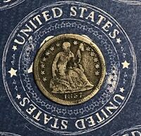 1857-O SEATED SILVER HALF DIME COLLECTOR COIN FOR COLLECTION. SHIPS FREE