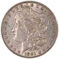 1881 MORGAN SILVER DOLLAR. A.U. CONDITION. ORIGINAL PATINA. 0308
