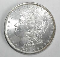 1881 MORGAN SILVER DOLLAR, UNCIRCULATED
