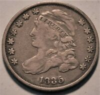 1835 CAPPED BUST DIME MIDDLE GRADE BETTER TYPE COIN ORIGINAL