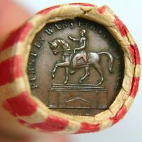 CIVIL WAR TOKEN ON THE END OF 50 COIN WHEAT CENT ROLL   EXAC