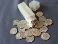 1964 P   1964 D   SILVER ROOSEVELT DIME  ROLL   50 COINS