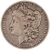 1881 MORGAN SILVER DOLLAR. FINE. CONDITION. ORIGINAL PATINA. 0330