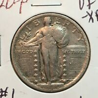 1920-P  VF-EXTRA FINE   STANDING LIBERTY QUARTER   COIN  1