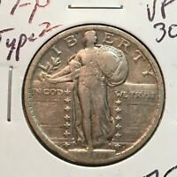 1917-P  TYPE 2  VF-EXTRA FINE   STANDING LIBERTY QUARTER   COIN
