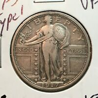 1917-S  TYPE 1  VF-EXTRA FINE   STANDING LIBERTY QUARTER   COIN