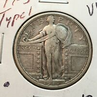 1917-S  TYPE 1  VF  STANDING LIBERTY QUARTER   COIN