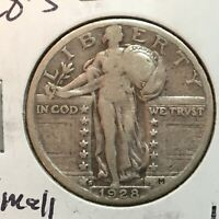 1928-S  SMALL S  STANDING LIBERTY QUARTER