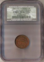 1863 NY F-630AD-1A H.D. GERDTS COIN DEALER NCS AU DETAILS - IMPROPERLY CLEANED