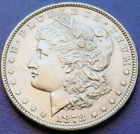 UNC VAM 1878 7/8 TAIL FEATHERS MORGAN DOLLAR  STRONG PROOFLIKE GEM BU COIN