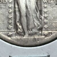 1921   KEY COIN  STANDING LIBERTY QUARTER  ALL 4 DIGITS IN DATE