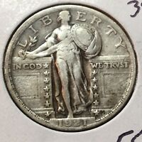 1921-P  VFEXTRA FINE   STANDING LIBERTY QUARTER    KEY DATE COIN