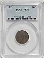 1803 10C PCGS VF 30   DRAPED BUST DIME IN OLD HOLDER