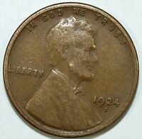 1924 S LINCOLN CENT  CIRCULATED  GREAT SET FILLER 204