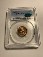 1942 S PCGS MINT STATE 67RD CAC LINCOLN WHEAT CENT 8298
