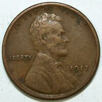 1917 S LINCOLN CENT  CIRCULATED  GREAT SET FILLER 505