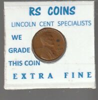 1937D  LINCOLN  CENT   TOUGH TO GET HI GRADE  EXTRA FINE  LOT 52046