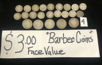 SILVER BARBER COIN LOT 90  $3.00 FACE VALUE