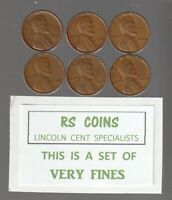 1934  1935  1936  1937  1938  1939    FINES   LINCOLN  CENT  SET